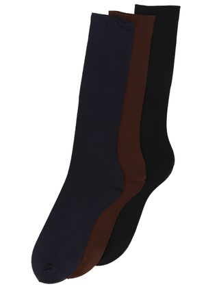Kit-com-03-Meias-Social-Masculina-Selene-Azul-marinho-marrom