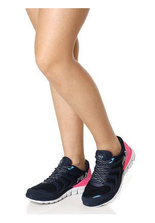 Tenis-Esportivo-Feminino-Fila-Powerfull-Azul-marinho-rosa