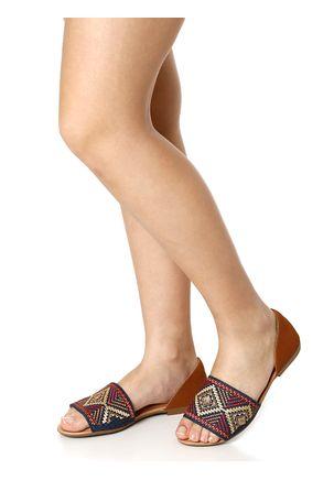 Sandalia-Rasteira-Feminina-Dakota-Azul-marinho-marrom