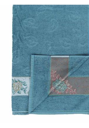 Toalha-Banho-Dohler-Premium-Floral-Azul