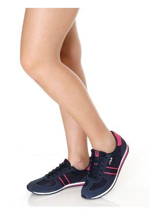 Tenis-Esportivo-Feminino-Fila-F-Retro-Sport-Azul-marinho-rosa