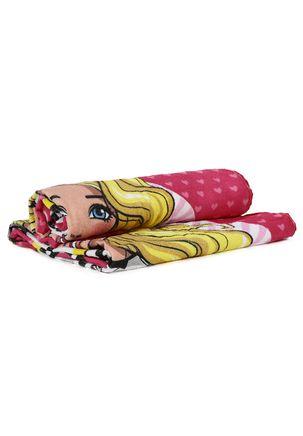 Toalha-Infantil-Dohler-Barbie-Rosa
