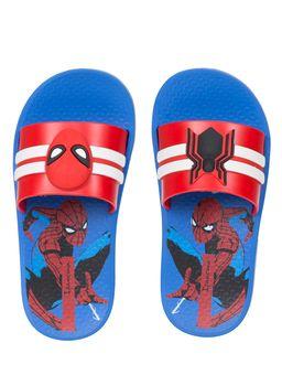 Chinelo-Slide-Homem-Aranha-Infantil-Para-Menino---Azul-vermelho
