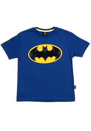 Camiseta-Manga-Curta-Batman-Infantil-Para-Menino---Azul
