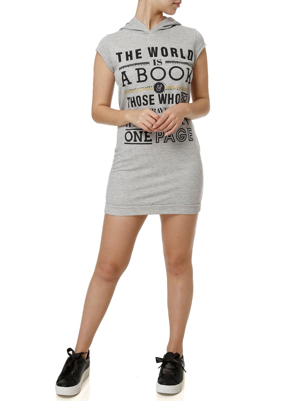 0afe8c0a89 Vestido Curto Feminino Cinza claro - Lojas Pompeia