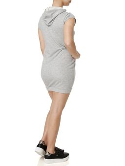 Vestido-Curto-Feminino-Cinza-claro