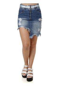 Saia-Curta-Jeans-Feminina-Uber-Azul