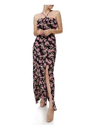 Vestido-Longo-Feminino-Preto-rosa