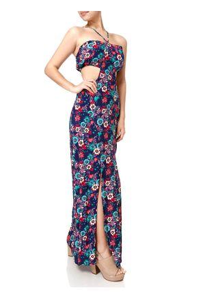Vestido-Longo-Feminino--Azul-marinho-rosa