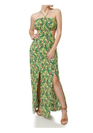 Vestido-Longo-Feminino-Verde