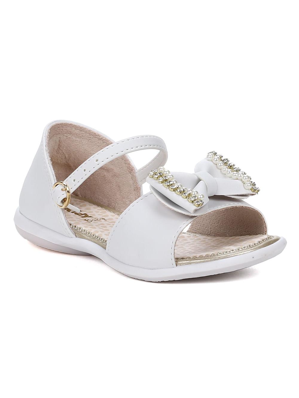 20215b0455 Sandália Infantil Para Bebê Menina - Branco - Lojas Pompeia