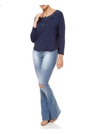 Blusa-Manga-Longa-Feminina-com-Renda-Azul-marinho