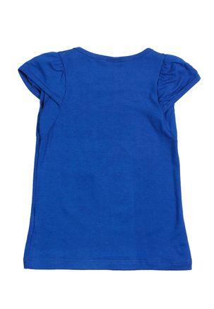 Blusa-Manga-Curta-Infantil-Para-Menina---Azul