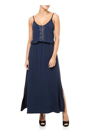 Vestido-Longo-Feminino-Azul-marinho