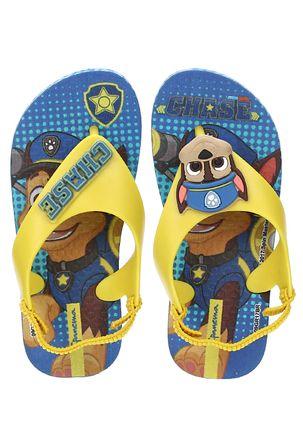 Sandalia-Patrulha-Canina-Infantil-Para-Menino---Azul-amarelo