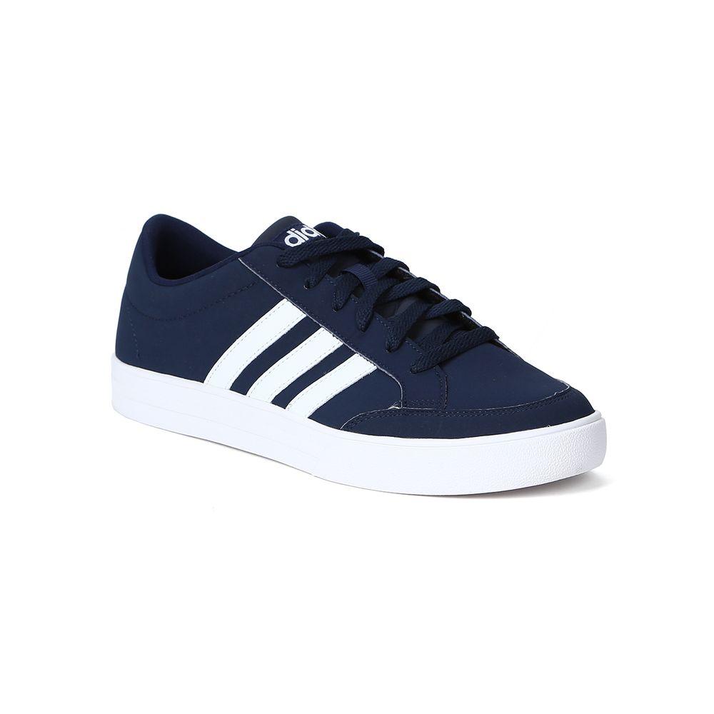 Tênis Casual Masculino Adidas Vs Set Azul branco - Lojas Pompeia d21fa40ac46e2