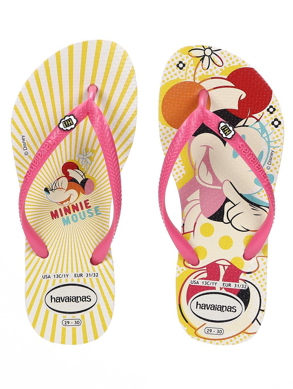 5359ef5024 Chinelo Havaianas Kids Disney Cool Infantil Para Menina - Bege ...