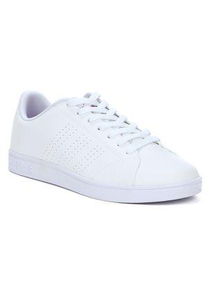 Tenis-Casual-Feminino-Adidas-Advantage-Clean-Branco-roxo