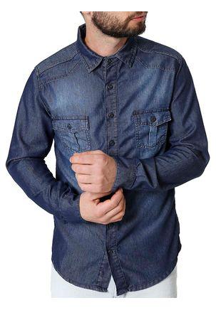 Camisa-Manga-Longa-Masculina-Azul-