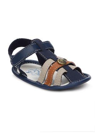 Sandalia-Klin-Infantil-Para-Bebe-Menino---Azul-marinho-marrom