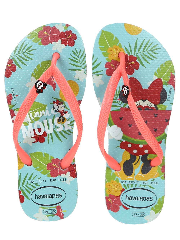 2b5250a46b Chinelo Havaianas Kids Disney Cool Infantil Para Menina - Azul claro ...