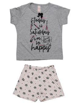 5f3f780cb0 Pijama-Curto-Infantil-Para-Menina