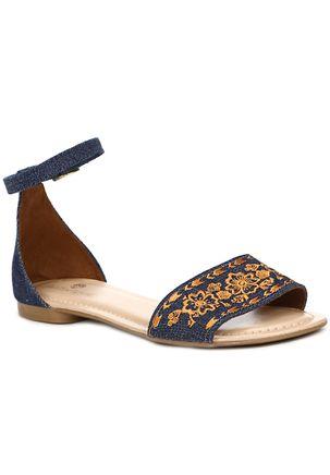 Sandalia-Rasteira-Feminina-Autentique-Caramelo-azul-marinho