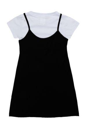 Vestido-Juvenil-Para-Menina-Preto-branco