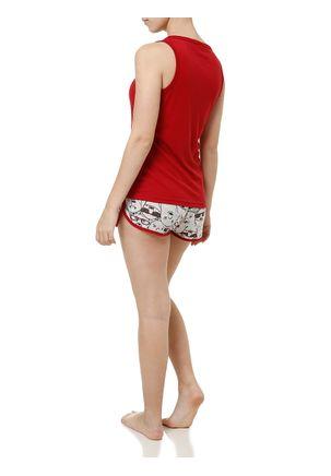 Pijama-Curto-Feminino-Vermelho