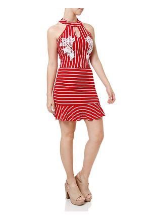 Vestido-Medio-Feminino-Vermelho