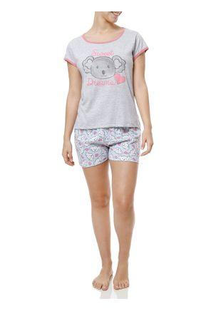 Pijama-Curto-Feminino-Cinza