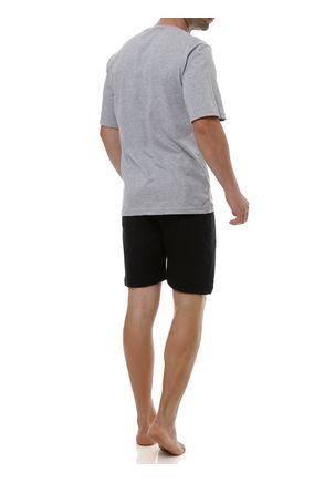 Pijama-Curto-Masculino-Cinza-preto