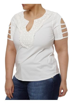 Blusa-Manga-Curta-Plus-Size-Feminina-Off-white