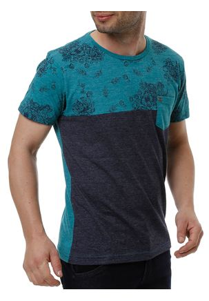 Camiseta-Manga-Curta-Masculina-Local-Verde-azul