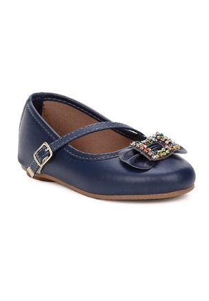 Sapato-Para-Bebe-Menina---Azul-marinho