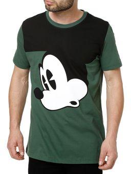 Camiseta-Manga-Curta-Masculina-Disney-Verde
