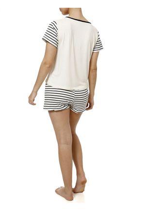 Pijama-Curto-Feminino-Bege