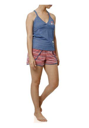 Pijama-Curto-Feminino-Azul
