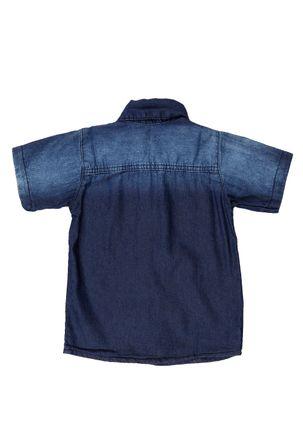 Camisa-Jeans-Infantil-para-Menino---Azul