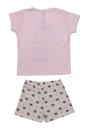 Pijama-Curto-Infantil-Para-Menina---Rosa
