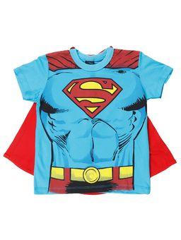 Camiseta-Manga-Curta-Dc-Infantil-Para-Menino---Azul