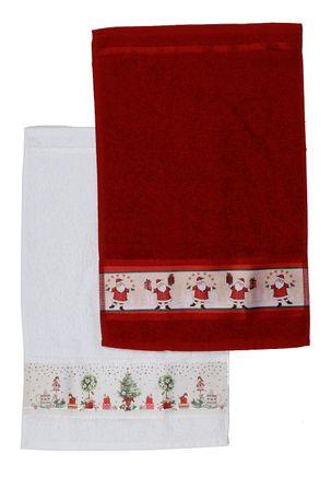 Toalha-Social-Karsten-Off-white-vermelho