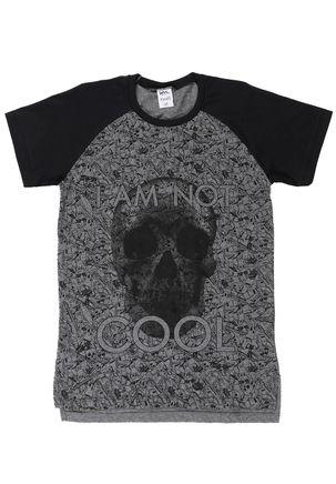 Camiseta-Manga-Curta-Juvenil-para-Menino---Cinza-preto