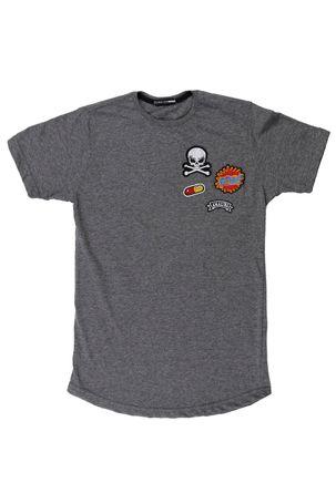 Camiseta-Manga-Curta-Local-Juvenil-para-Menino---Cinza