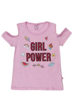 Blusa-Manga-Curta-Juvenil-para-Menina---Rosa