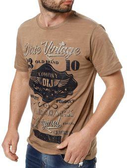 Camiseta-Manga-Curta-Masculina-Dixie-Marrom