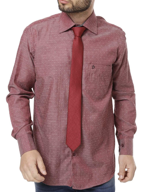 cca71d27c7 Camisa Manga Longa Masculina Vinho - Lojas Pompeia