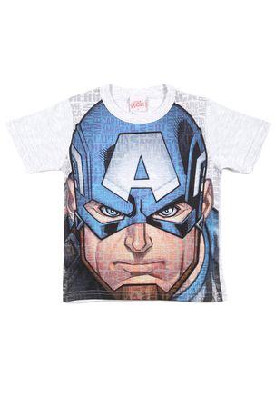 Camiseta-Manga-Curta-Avengers-Infantil-Para-Menino---Azul-cinza