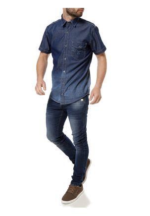 Camisa-Jeans-Manga-Curta-Masculina-Azul