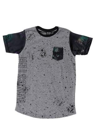 Camiseta-Manga-Curta-Gangster-Juvenil-para-Menino---Cinza-preto
